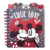 "Minnie & Mickey Mouse Classic""True Love"" Themed 5-Section 100 Page Chunky Mini Tabbed Spiral Notebook Featuring Hearts, Bows, Polka Dots, and Mickey Ears by Tri-Coastal Design"