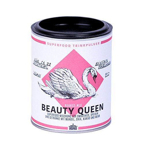 Berlin Organics Beauty Queen - Superfood Mischung - Superfoodsmoothie - Porridge Topping - Mit Mandelprotein 100% Bio & Vegan 100 g