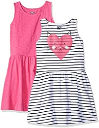 Spotted Zebra Mädchen 2-Pack Knit Sleeveless Fit and Flare Dresses, 2er-Pack
