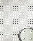 Wandpaneel 3D WallFace 11273 SQUARE Struktur Decorplatte Metalloptik Dekorpaneel selbstklebend edelstahl grau | 2,60 qm