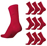 Bugatti Basic Mens Socks 9er Pack 6703 440 rio red rot Strumpf Socken, Size:47-50