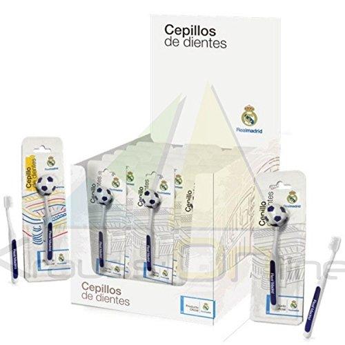 Cepillo de Dientes para adultos Oficial del Real Madrid C.F. - Producto Oficial Real Madrid Club de Fútbol