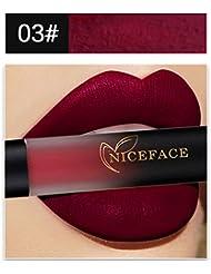 Malloom Maquillage des lèvres 18 Couleurs Lingerie à lèvres Liquide mat Rouge à lèvres étanche (03#)