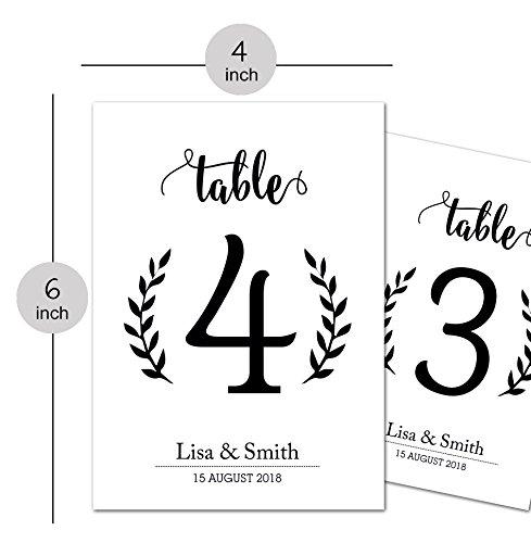 PrintValue Papier Kunst Nummer Tisch Placecards Hochzeit Liefert Dekoration 4 x 6 Zoll