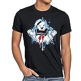 style3 Stay Puft Marshmallow Mann T-Shirt Herren geisterjäger schaumzucker, Größe:XL, Farbe:Schwarz