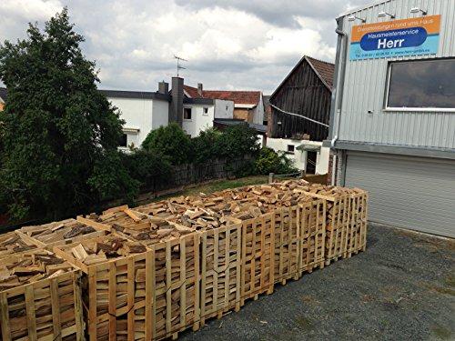 Preisvergleich Produktbild Brennholz Buche- Scheitholz, 25cm, kammergetrocknet, Palette á 2 rm