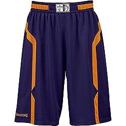 Spalding Offense Pantalones Cortos, Hombre, Azul (Marine/Orange), 4XL