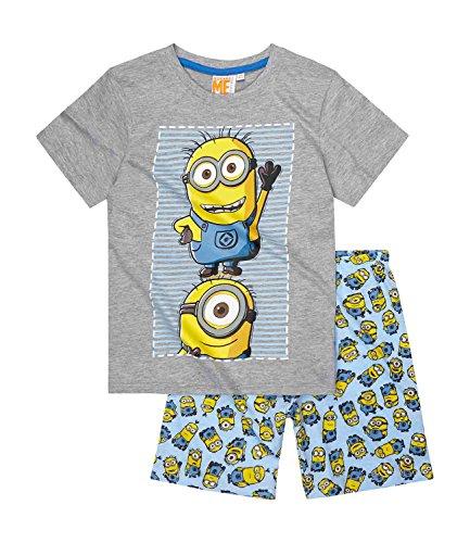 Minions-Despicable-Me-Chicos-Pijama-mangas-cortas-2016-Collection-Azul
