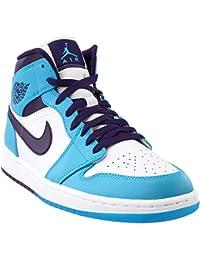 half off 00129 8c54c Nike Herren Air Jordan 1 Mid-Schuh Blau Lagoon Grand Lila