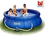Bestway 57109 GS - Schwimmbad Fast Rund mit Filter und Pumpe, 305 x 76 cm