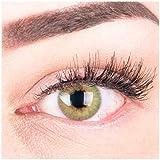 """Sehr stark deckende und natürliche grüne Kontaktlinsen SILIKON COMFORT NEUHEIT farbig """"Rose Green"""" + Behälter von GLAMLENS -"""