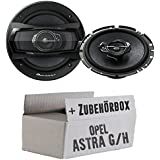 Opel Astra G,H - Pioneer TS-A1733i 17cm 3-Wege Lautsprecher - Einbauset