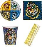 Harry Potter Partyset 16 Teller 16 Becher 16 Servietten Trinkhalme Kindergeburtstag