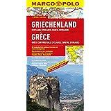 MARCO POLO Karte Griechenland, Festland, Kykladen, Korfu, Sporaden (MARCO POLO Karten 1:300.000)