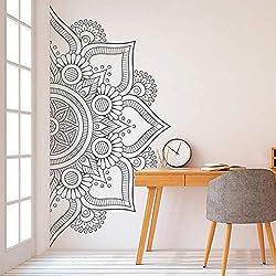 Media mandala etiqueta de pared calcomanía para el dormitorio moderno diseño patrón vinilo arte autoadhesivo pegatinas de pared Home Room Decor 84x42 cm