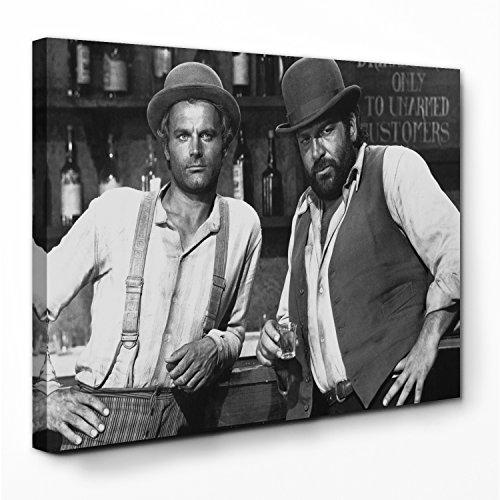 Tag Leinwand (Bud Spencer - Vier Fäuste für ein Halleluja - Leinwand (80x60cm))