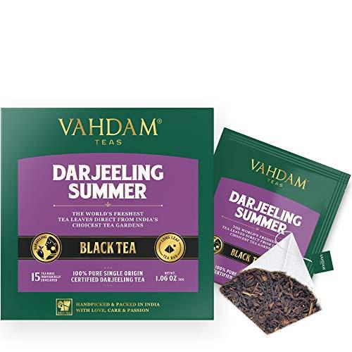 Darjeeling-Schwarztee aus Himalaya (30 Tea Bags) | Mittleres Koffein, hochenergetischer Tee | 100% zertifizierte reine ungemischte Darjeeling Teebeutel aus Indien | Brew Hot, Iced oder Kombucha Tee