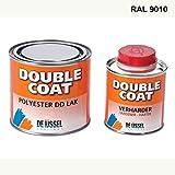 De IJssel Double Coat 2K Bootslack - Farbe reinweiß/RAL 9010-500 Gramm Set - (Yachtlack, Decklack) Rein Weiß