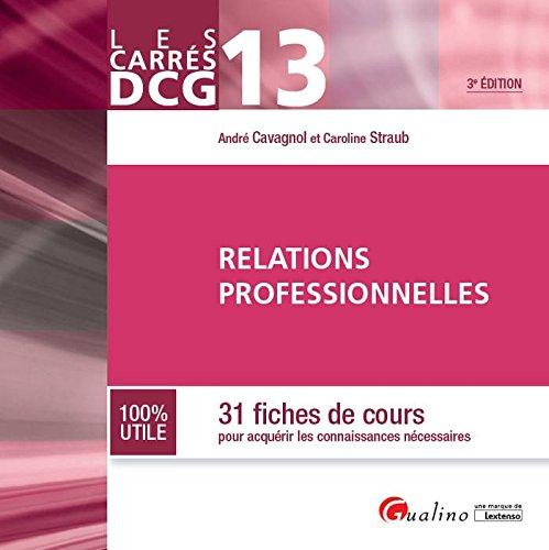Relations professionnelles : 31 fiches de cours