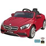 Mercedes-Benz S63 AMG Cabriolet Ride-On 12V Elektro Kinderauto Kinderfahrzeug Kinder Elektroauto (Rot)
