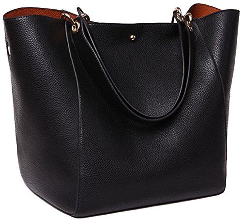 sqlp Poches en cuir noir femme 2017 neuf elegant...