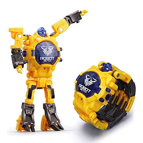 Roboter-elektronische Uhr für Jungen,Elektronische Multifunktionsuhr für 2-in-1-Kinder Geschenk für Kinder Tage & Jungen Mädchen, die Geschenke Lernen