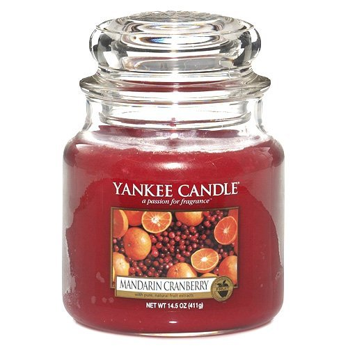 Yankee Candle Glaskerze, mittel, Mandarin Cranberry -