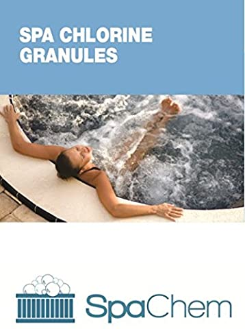 1kg Spa Chlorine Granules BY SPACHEM - Premium Grade low dust Multifunctional Stabilised Chemicals for disinfection Hot tubs Spa and swimming Pool