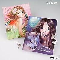 FANTASY Model diario con candado Model con alas cuaderno de rosa y verde flores