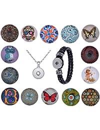 Morella señorías Click-Button Set 14 pulsadores modelo-sueño con collar de 70 cm y pulsera