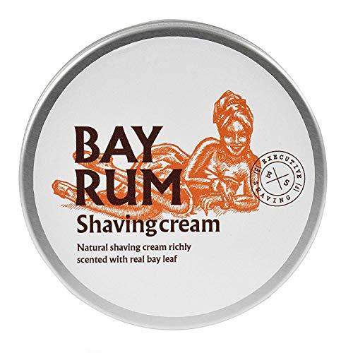 Executive Shaving Alkohol und Parabenfrei Bay Rum Duftend Natur Rasierschaum 200ml Wanne Perfekt für Empfindliche Haut -