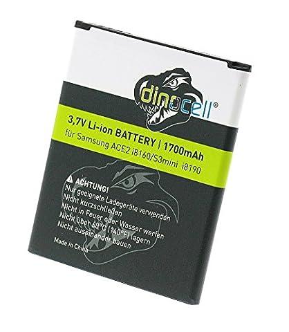 Dinocell® 1700mAh Akku für original Samsung Galaxy S3 mini S3mini GT-i8190, Galaxy Ace2 GT-i8160, Galaxy Trend S7560, Galaxy S DuoS S7562, ersetzt EB-F1M7FLU, EB-L1M7FLU (ohne NFC), EB425161LU, NEU