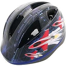 RMS Casco out-mould para niño Talla XS gráfica azul cohete. (Cascos Junior)/Boy Helmet in-mold Size XS Rocket azul color (Junior Helmets)