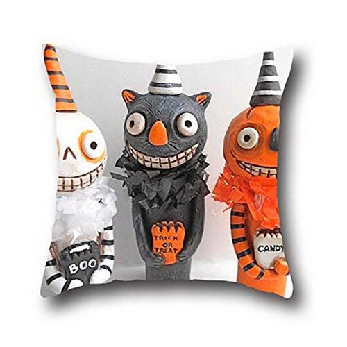 oshiley Ölgemälde schwarz Katzen Halloween einfach Kissenbezug, baumwolle, dcQFMAEkVLNpRZWt408, 18*18