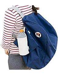 Tongshi Hombro plegable bolsa de almacenamiento Mochila multifuncional Acabado Paquete (azul)
