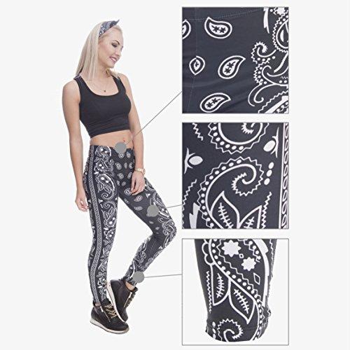 DRESHOW Damen Strumpfhose Leggings Workout Yoga Running Fitness Strecth Pants Mehrfarbig Bandana
