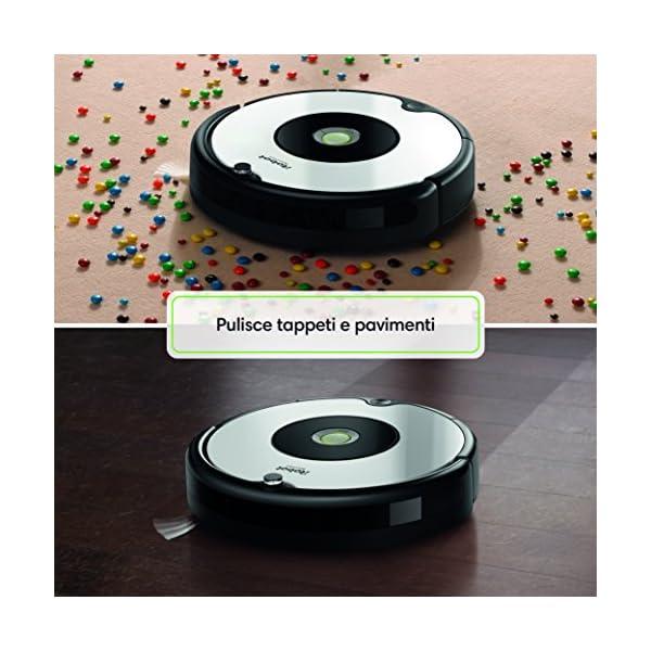 iRobot Roomba 605 Robot Aspirapolvere, Sistema di Pulizia ad Alte Prestazioni, Adatto a Pavimenti e Tappeti, Ottimo per… 5 spesavip