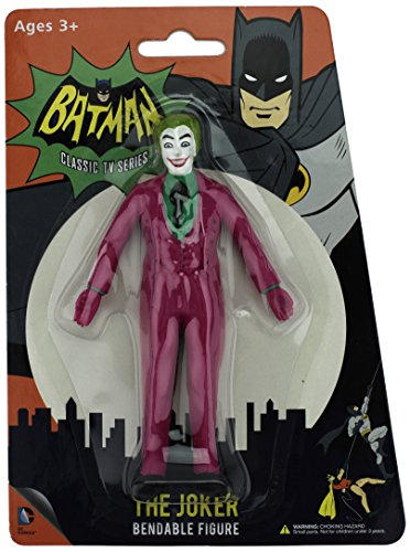 NJ Croce Batman Classic TV Series The Joker Bendable Figure by NJ Croce