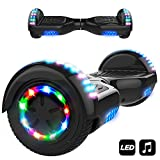 6.5' Smart Monopattino Elettrico Autobilanciato con 2 * 350W Motore,Self Balance Scooter Skateboard con LED(Nero)
