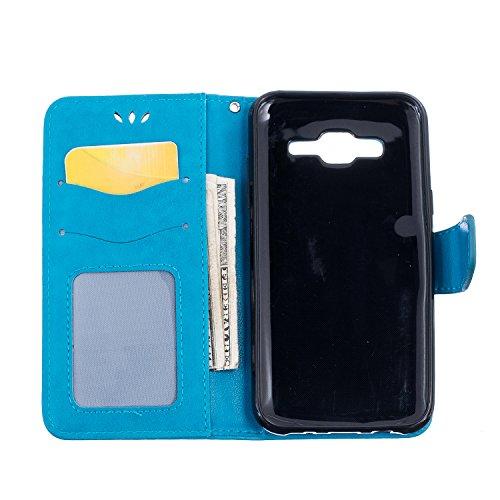 Custodia iPhone 6,iPhone 6S Cover,Cozy Hut® Custodia iPhone 6 6S (4,7 Zoll) con Strap, iPhone 6 6S (4,7 Zoll) Flip Custodia Cover Case, Creative Disegno stampa stile del libro Portafoglio Cover Case i blu