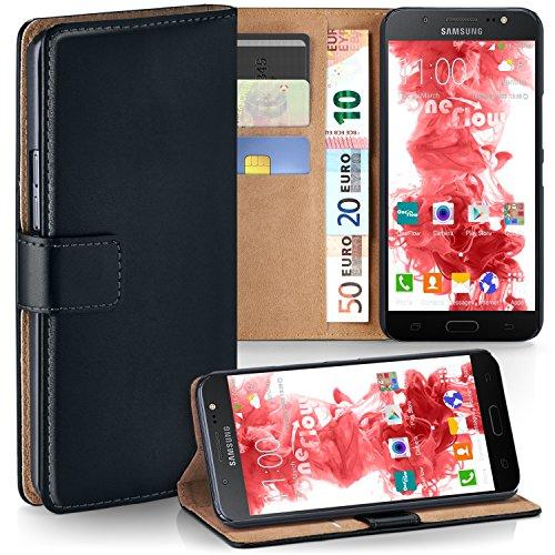 moex Samsung Galaxy J5 (2016) | Hülle Schwarz mit Karten-Fach 360° Book Klapp-Hülle Handytasche Kunst-Leder Handyhülle für Samsung Galaxy J5 2016 Case Flip Cover Schutzhülle Tasche