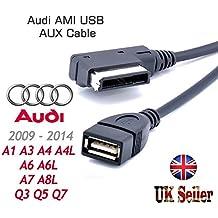 Audi A3 A4 A5 A6 A8 Q5 Q8 Q7 interfaz de música MDI AMI MMI Cable USB de sincronización de datos