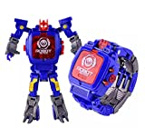 Kiditos Transforming Deformation Robot Toy Convert to Digital Watch for Kids, Blue