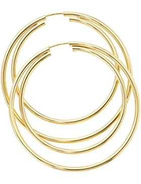 JOBO Creolen 333 Gelbgold Gold-Ohrringe