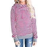 Search : Bluester Women Striped Jumper, Long Sleeve Hooded Sweatshirt Pullover Tops Blouse/ Plus Size