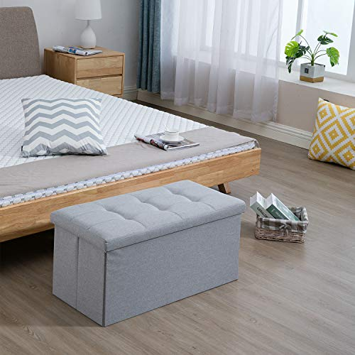 Samincom Faltbarer Sitzhocker, Sitzbank belastbar bis 120 kg grau 76 x 38 x 36 cm