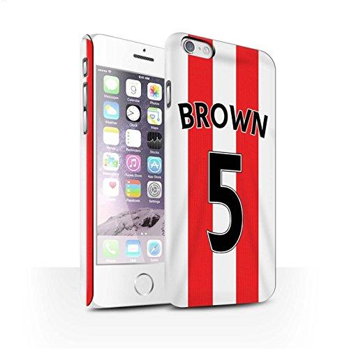 Offiziell Sunderland AFC Hülle / Matte Snap-On Case für Apple iPhone 6 / Borini Muster / SAFC Trikot Home 15/16 Kollektion Brown