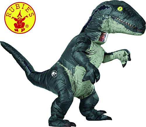 Rubies 820883 Aufblasbares Kostüm Velociraptor Ad (Kostüme Park Jurassic)