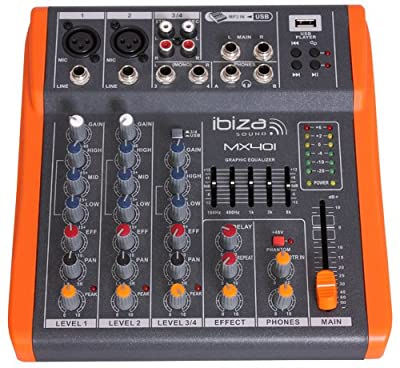 ibiza light Compact Sized 4 Channel Music Mixer