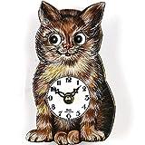 Haus der 1000 Uhren Pendeluhr Katze 14cm - batteriebetriebenes Pendelwerk - Original aus dem Schwarzwald